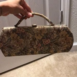 Handbags - Vintage clutch with flowers